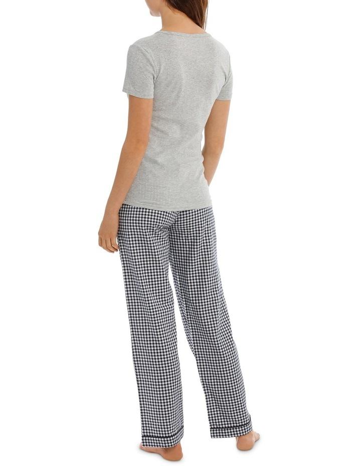 Soho Basics Short Sleeve Knit Tee & Long PJ Pant Set SSOW18035 image 2