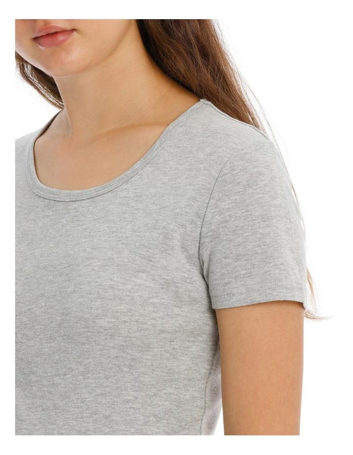 Soho Basics Short Sleeve Knit Tee & Long PJ Pant Set SSOW18035 image 3