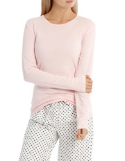 W18 Basics PJ's Long Sleeve Knit Top With Flannel Pant SSOW18001