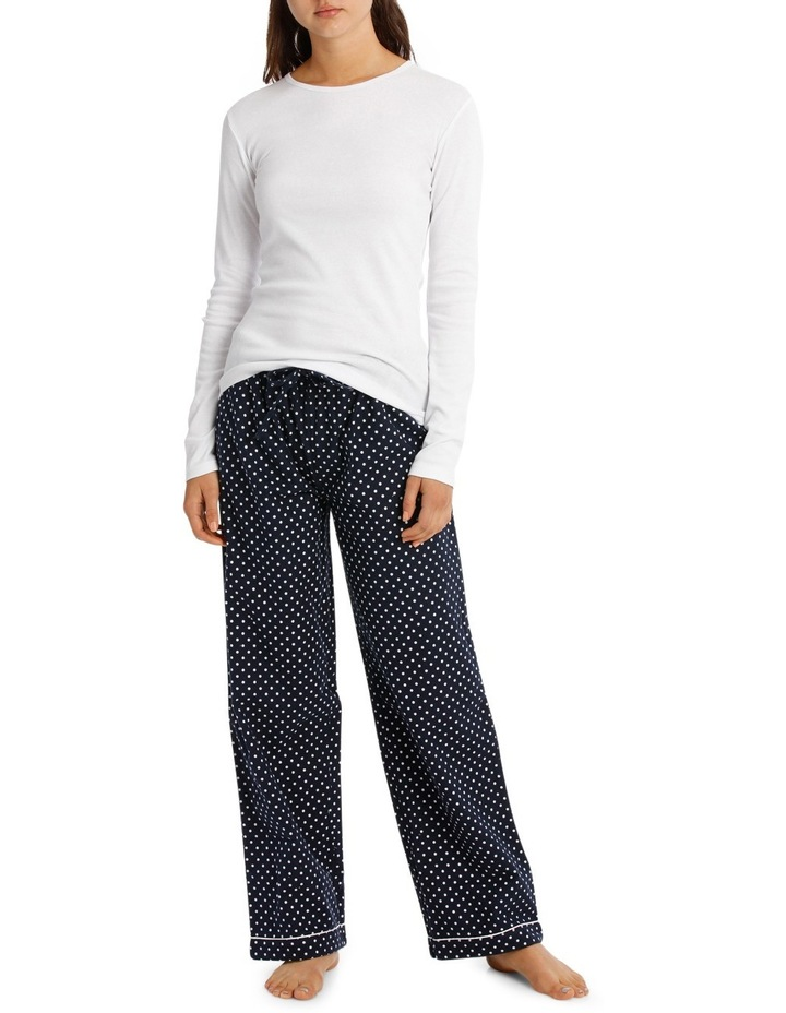 Pajama's Long Sleeve Knit Top With Flannel Pant SSOW18001 image 1
