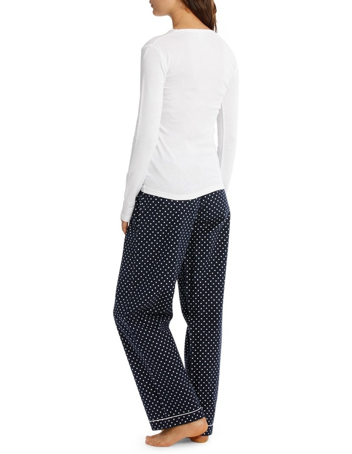 Pajama's Long Sleeve Knit Top With Flannel Pant SSOW18001 image 2