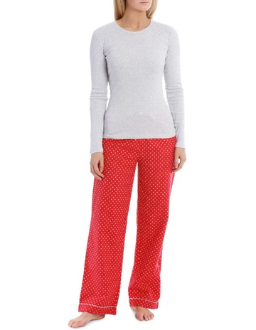 a3a87ba189 Soho Long Sleeve Knit Top with Flannel Pant