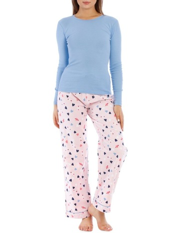 fb1c4dd6c26c4 SohoLong Sleeve Knit Top with Flannel Pant