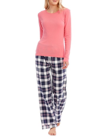60df7ba003ec Soho Long Sleeve Knit Top with Flannel Pant