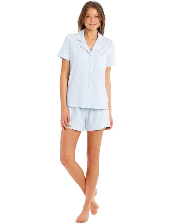 Knit Short Sleeve Top with Short PJ Set image 1