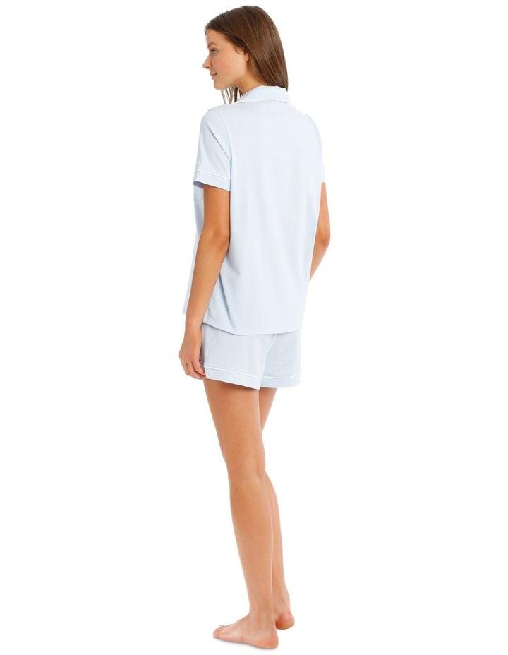 Knit Short Sleeve Top with Short PJ Set image 2