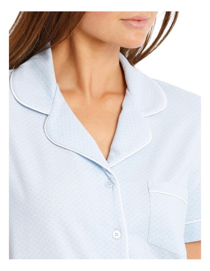 Knit Short Sleeve Top with Short PJ Set image 3