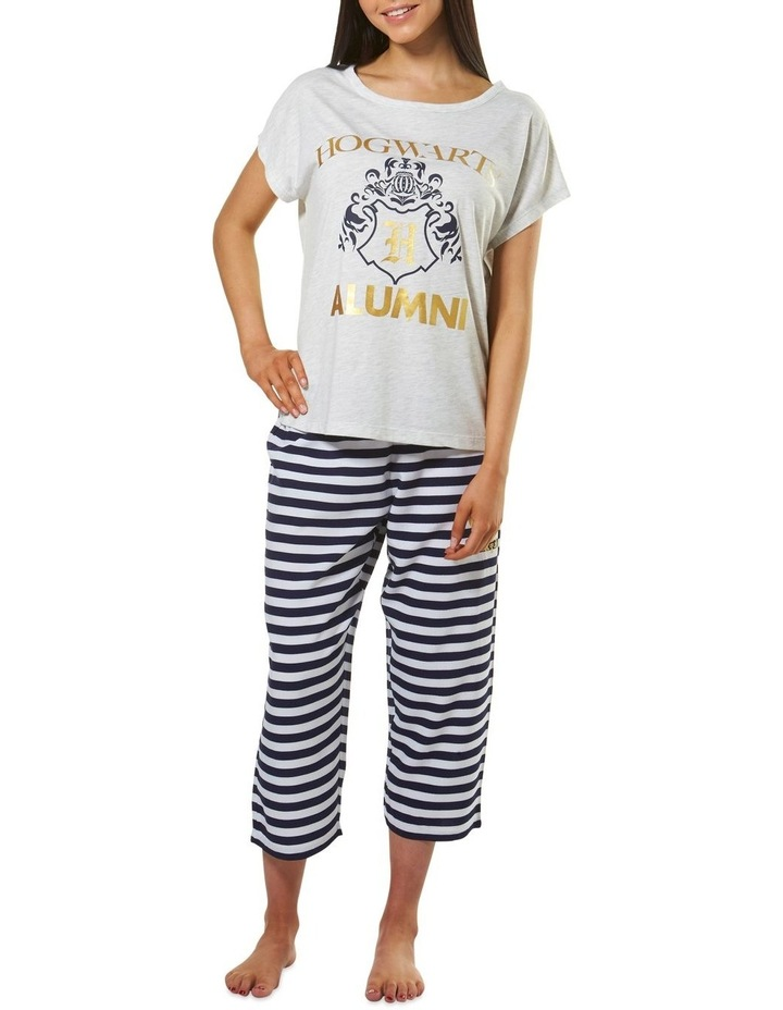 Harry Potter Knit S/S Top with Woven 3/4 Pant PJ Set image 1
