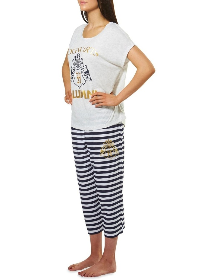 Harry Potter Knit S/S Top with Woven 3/4 Pant PJ Set image 2