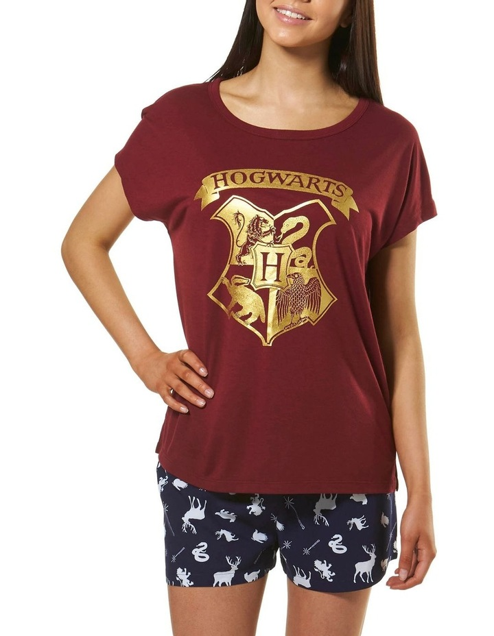 Harry Potter Knit S/S Top with Woven Short PJ Set image 1