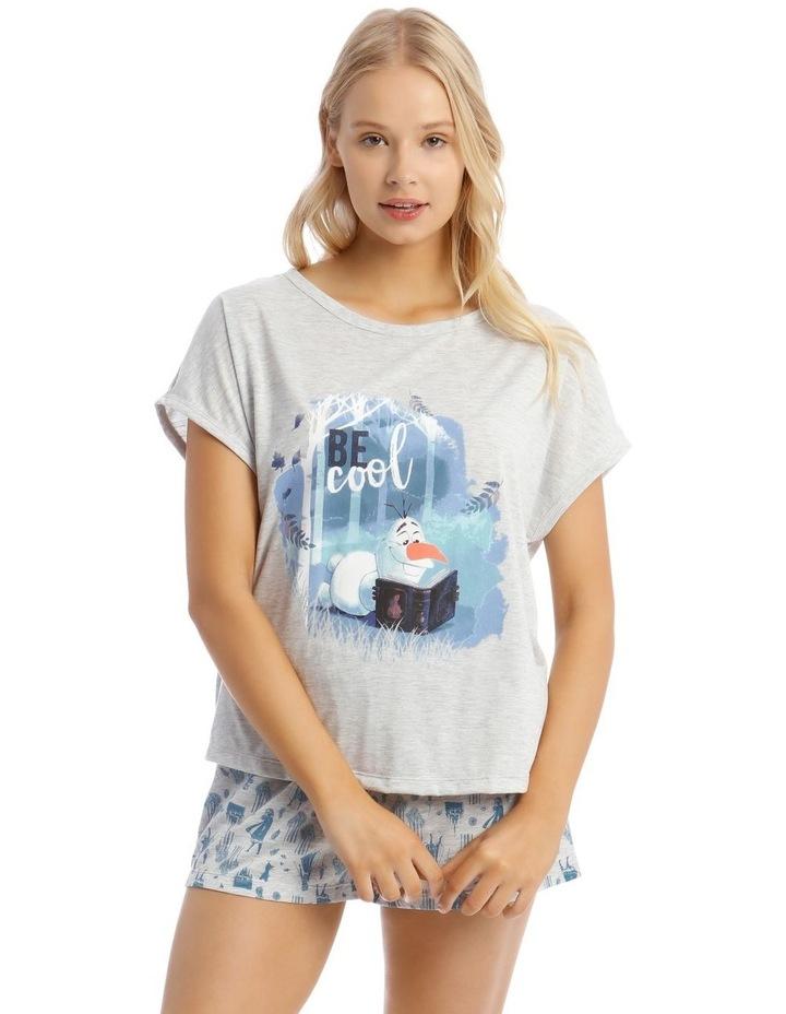 Frozen Knit Top & Short Pyjama Set image 1
