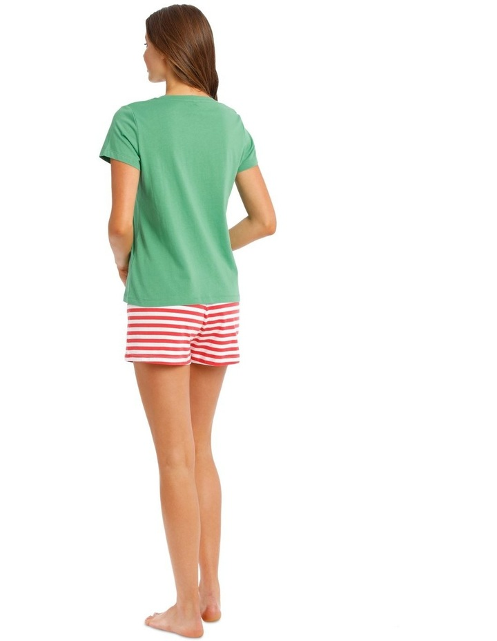 Knit Short Sleeve Top with Short PJ Set image 2