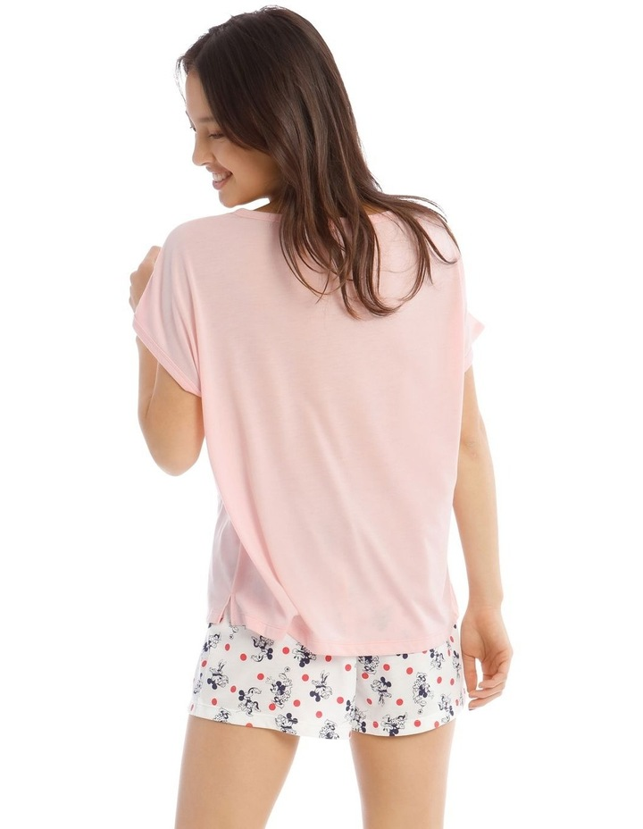 Mickey and Minnie Knit Short Sleeve Top with Short PJ set image 2