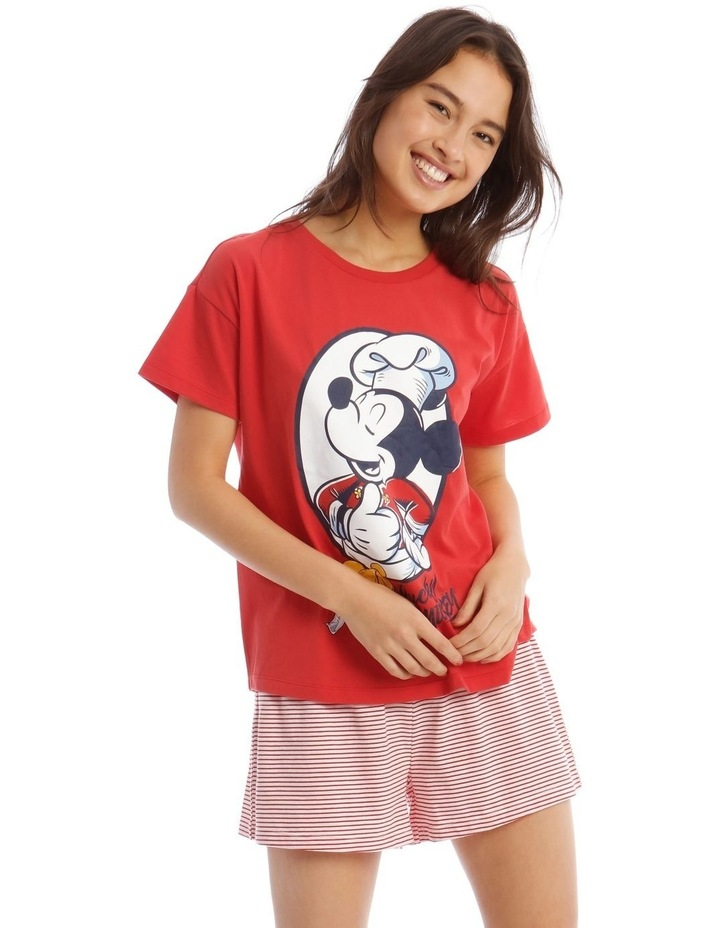 Lucky Mickey Knit Short Sleeve Top with Short PJ Set image 1