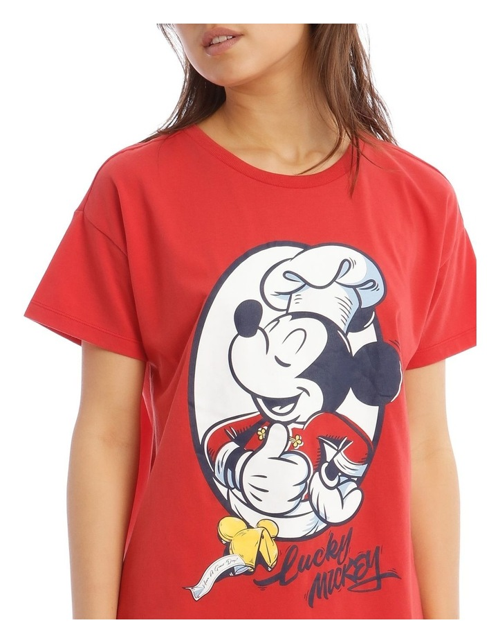 Lucky Mickey Knit Short Sleeve Top with Short PJ Set image 3
