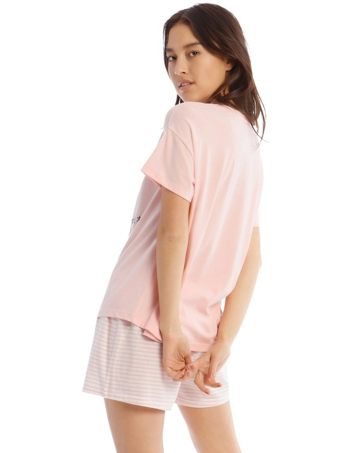 Lucky Mickey Knit Short Sleeve Top with Short PJ Set image 2
