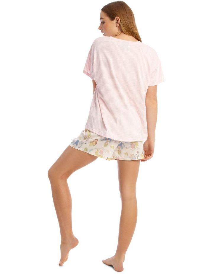Princesses Short-Sleeve Top with Short Pyjamas image 2