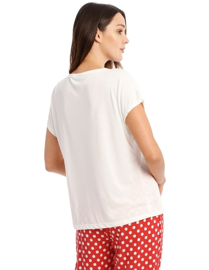 Knit Short Sleeve Top with 3/4 Pant PJ Set image 2