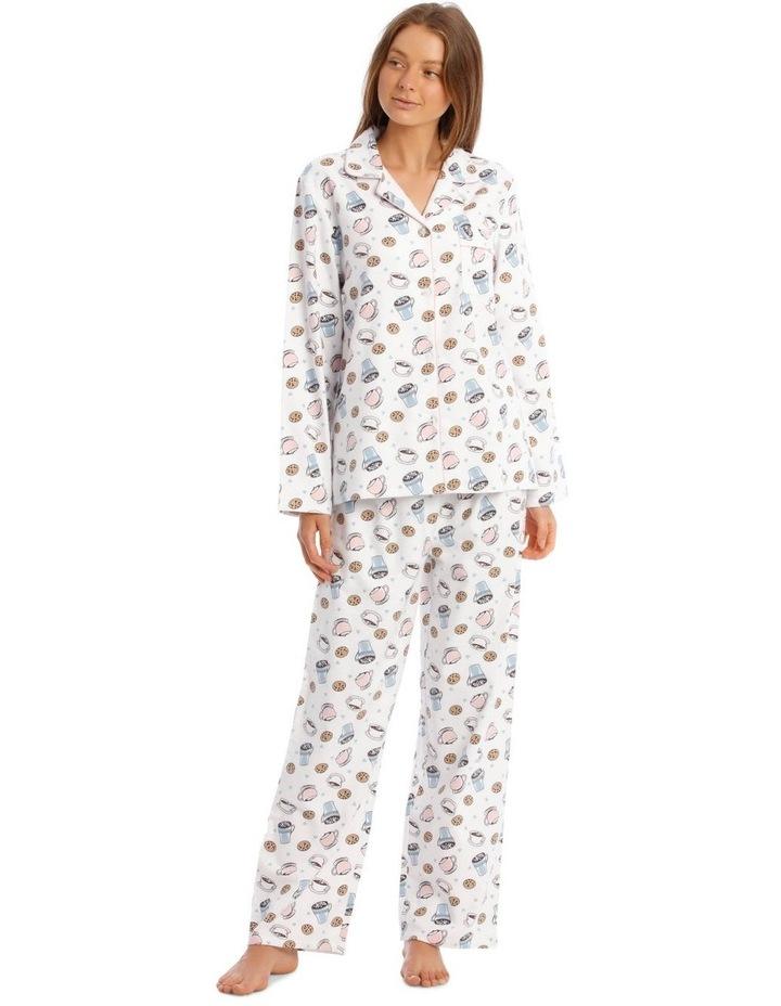 Full Flannel Hot Chocolate Print Pyjamas image 1