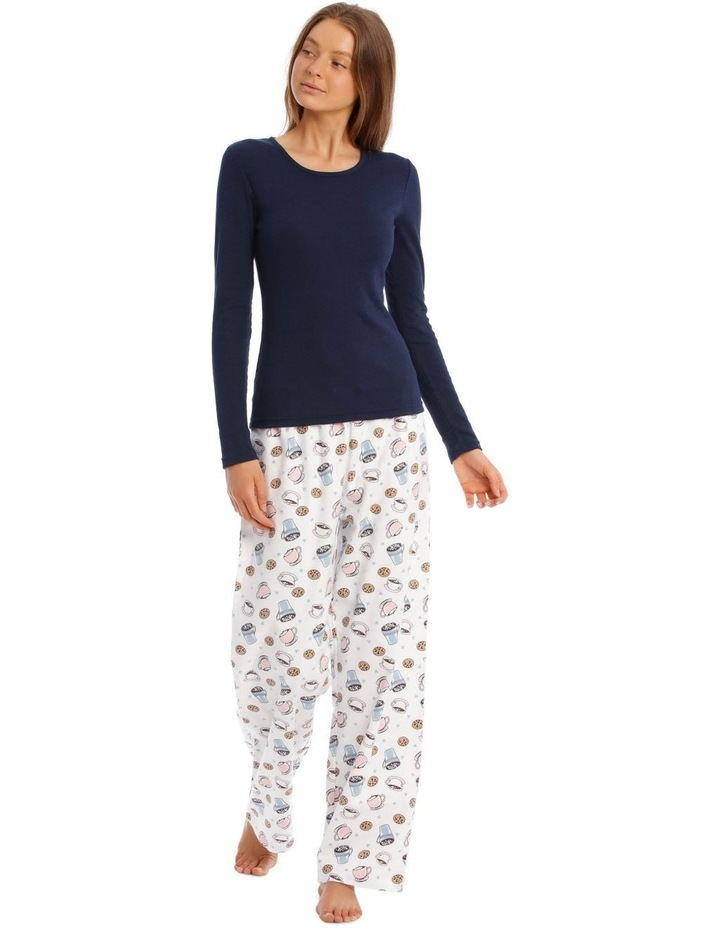 Long-Sleeve Knit Top and Flannel Pant Pyjama Set image 1