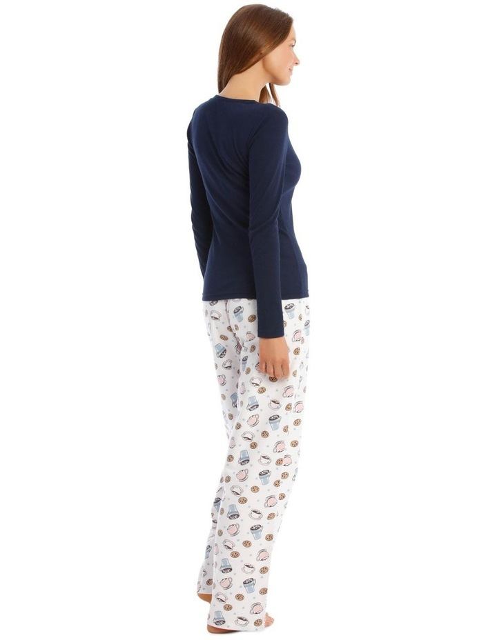 Long-Sleeve Knit Top and Flannel Pant Pyjama Set image 3