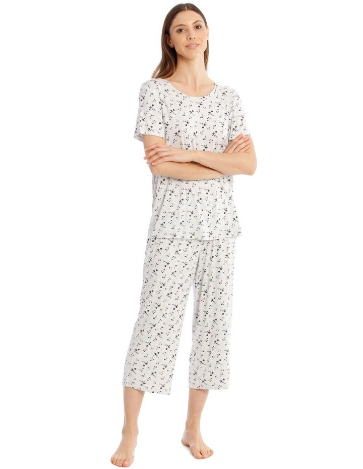Core Short Sleeve Top With 3/4 Pant PJ Set image 1