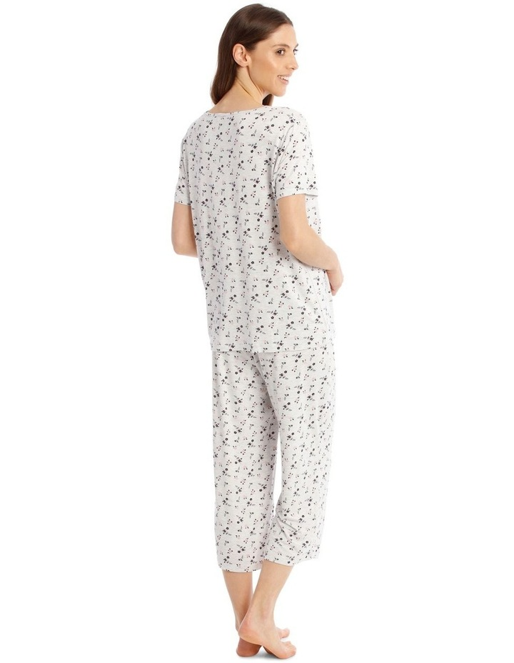 Core Short Sleeve Top With 3/4 Pant PJ Set image 2