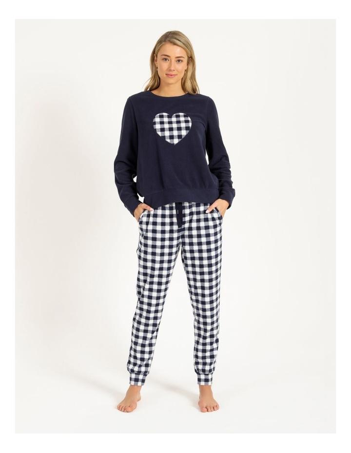 Knit Fleece Long Sleeve PJ Set image 1