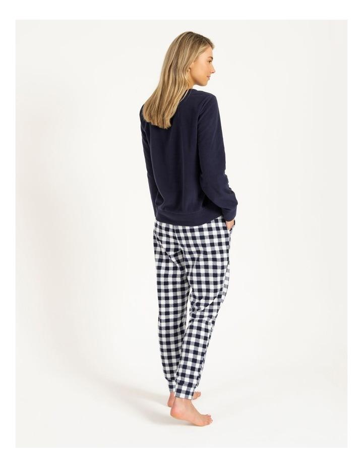 Knit Fleece Long Sleeve PJ Set image 3