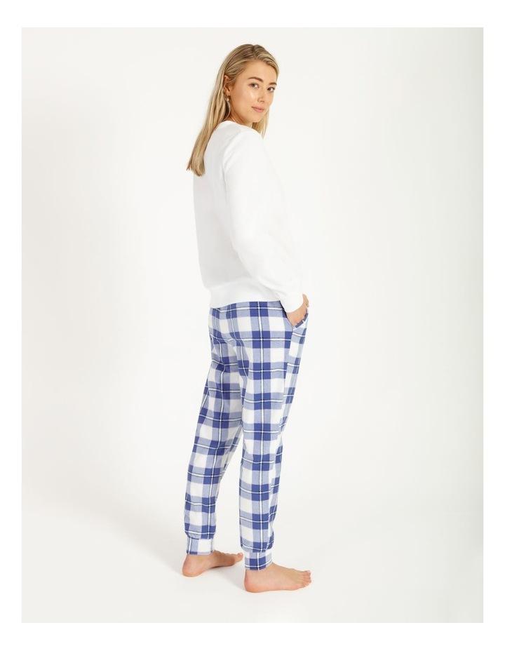 Knit Fleece Long Sleeve PJ Set image 2