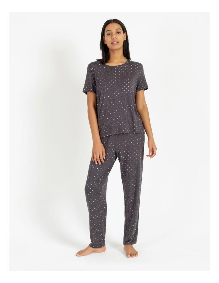 Knit Short Sleeve Long Pj Set image 1