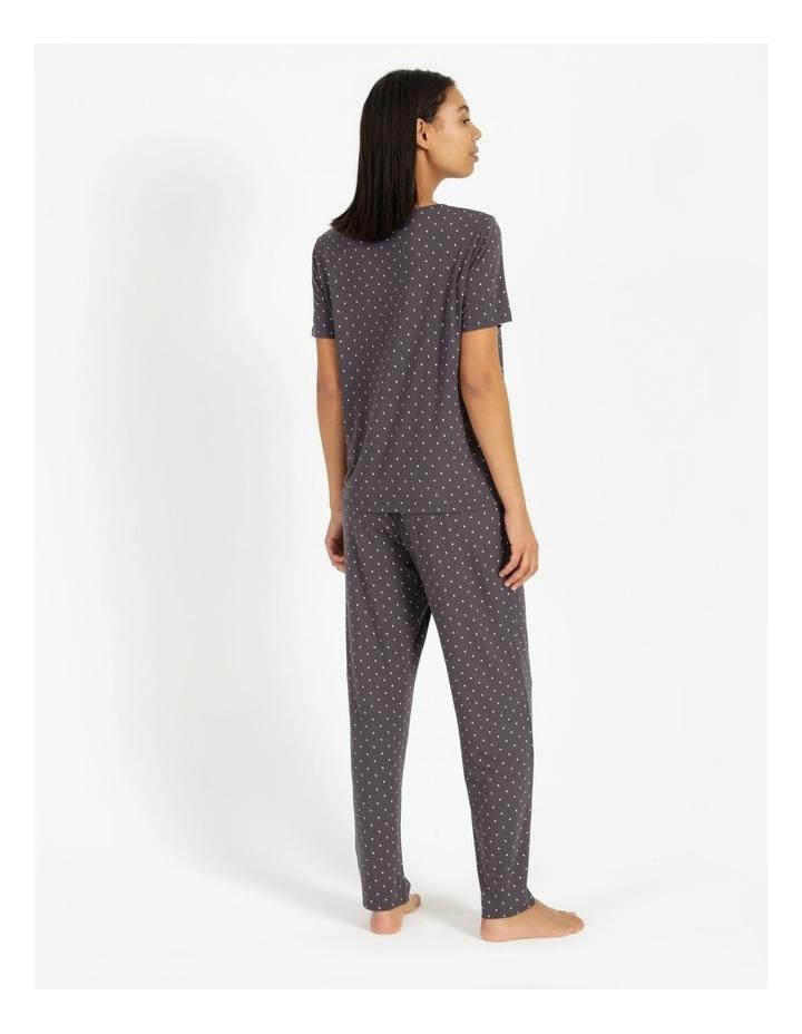 Knit Short Sleeve Long Pj Set image 3