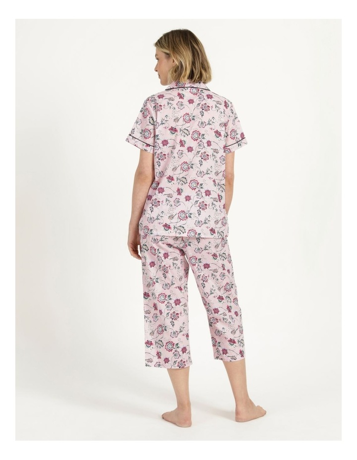 Organic Cotton Woven 3/4 Pj Set Pink Floral image 4