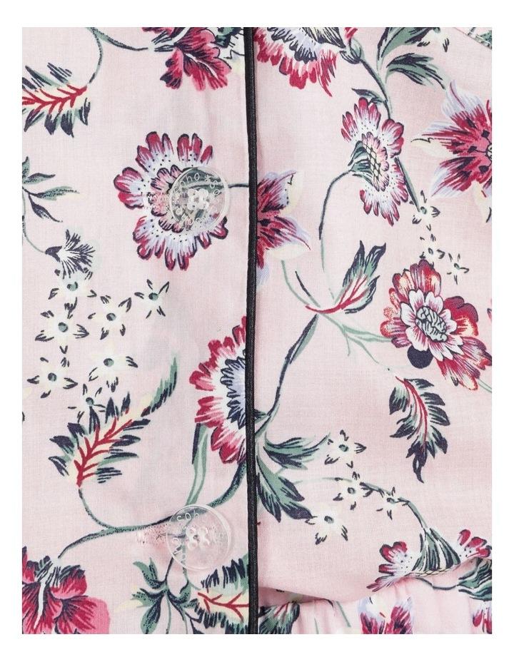 Organic Cotton Woven 3/4 Pj Set Pink Floral image 7