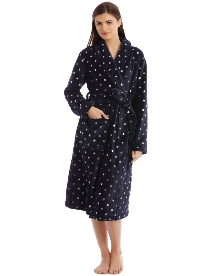 Textured Robe in Navy image 1