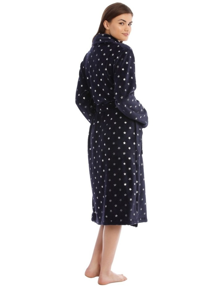 Textured Robe in Navy image 2