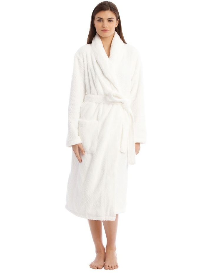 Textured Robe in White image 1
