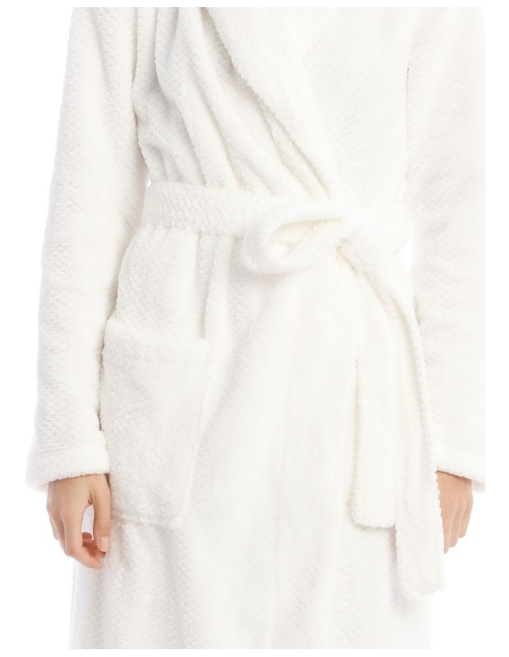 Textured Robe in White image 3