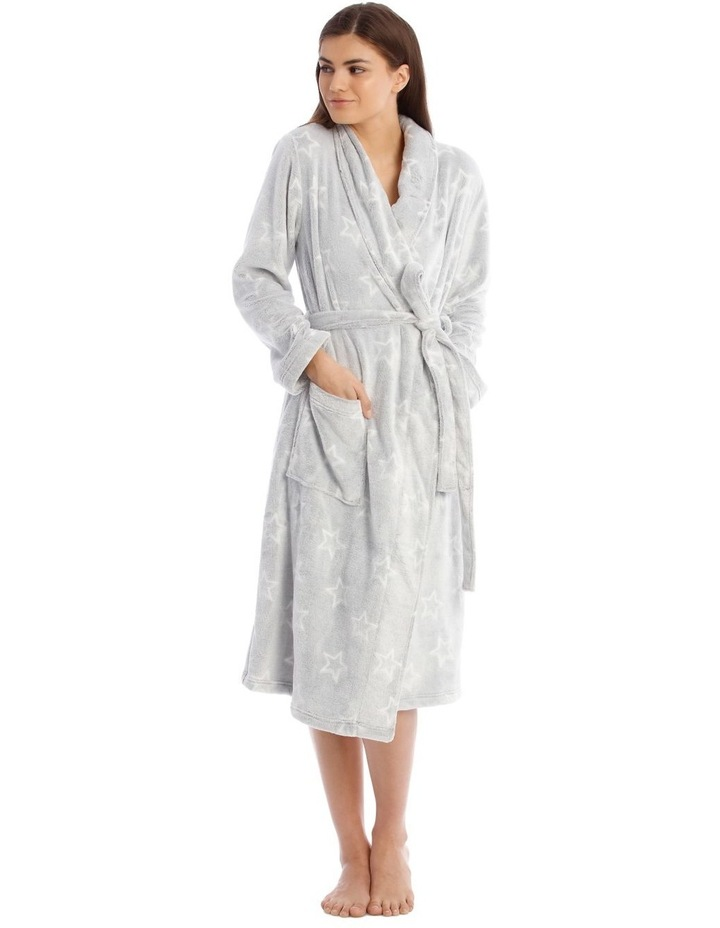 Textured Robe in Grey image 1