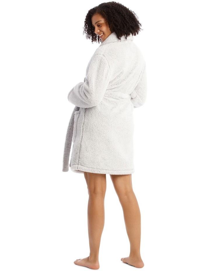 Woven Short Fleece Robe image 2