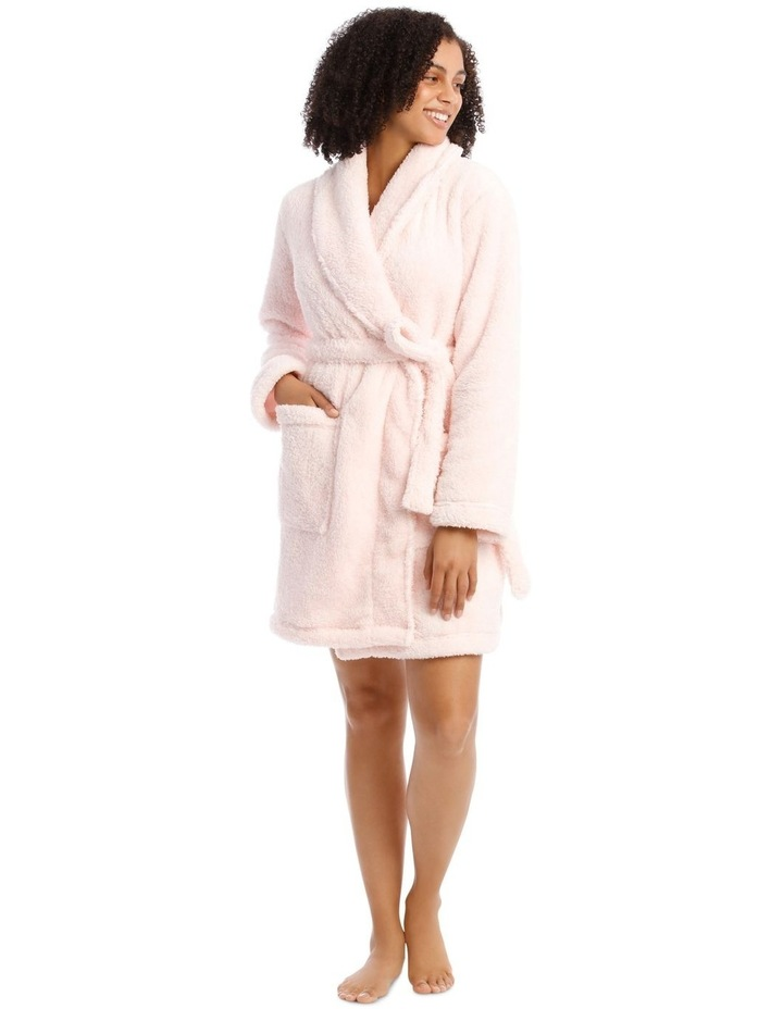 Woven Short Fleece Robe image 1