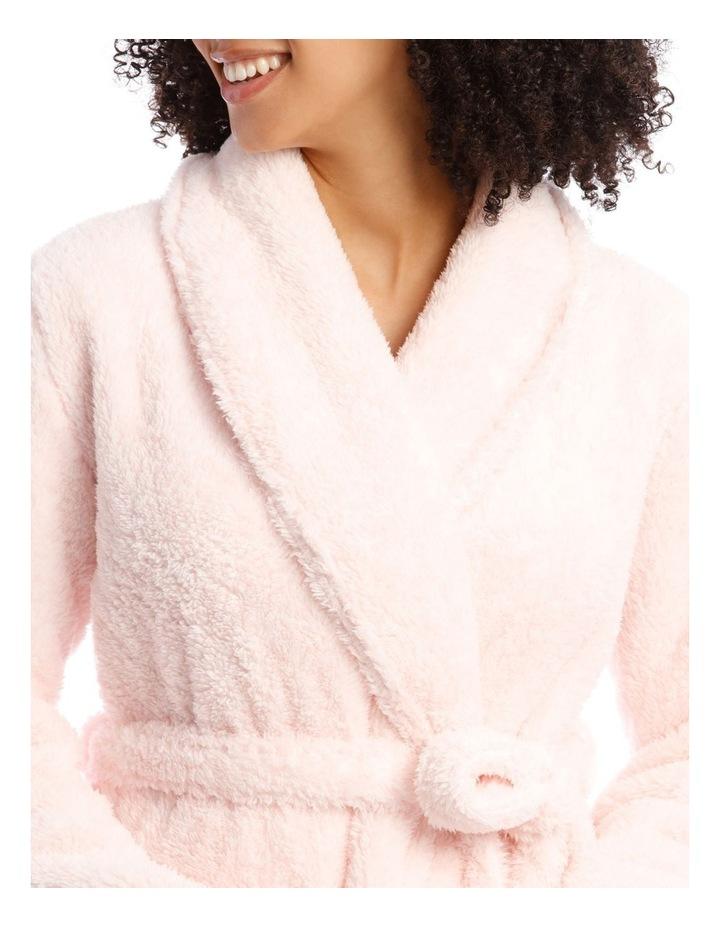 Woven Short Fleece Robe image 3