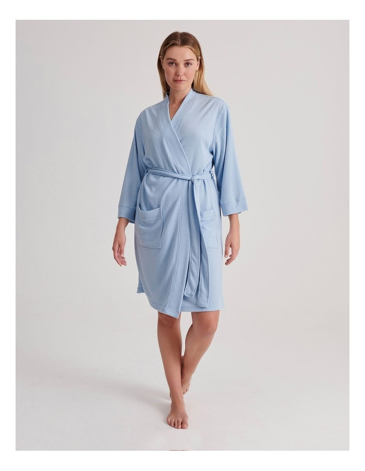 Waffle Robe in Baby Blue image 1