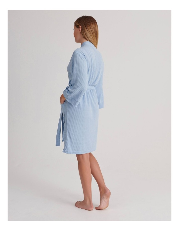 Waffle Robe in Baby Blue image 2