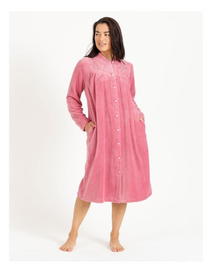 Fleece Button Through Robe image 1