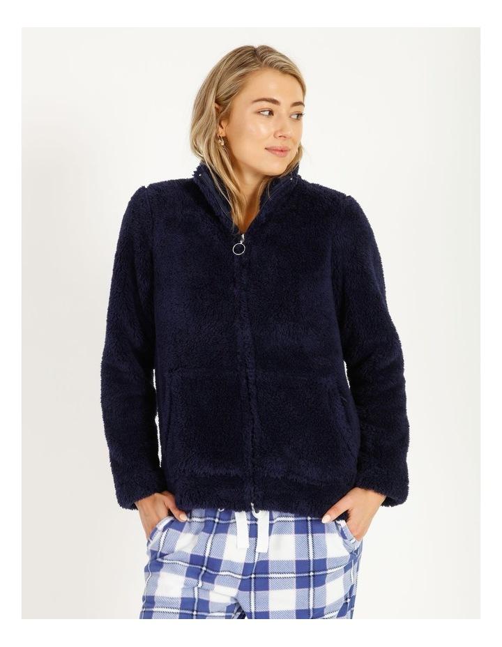 Woven Fleece Zip Jumper image 1