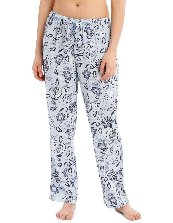 Blue Damask Woven Long Pant image 1