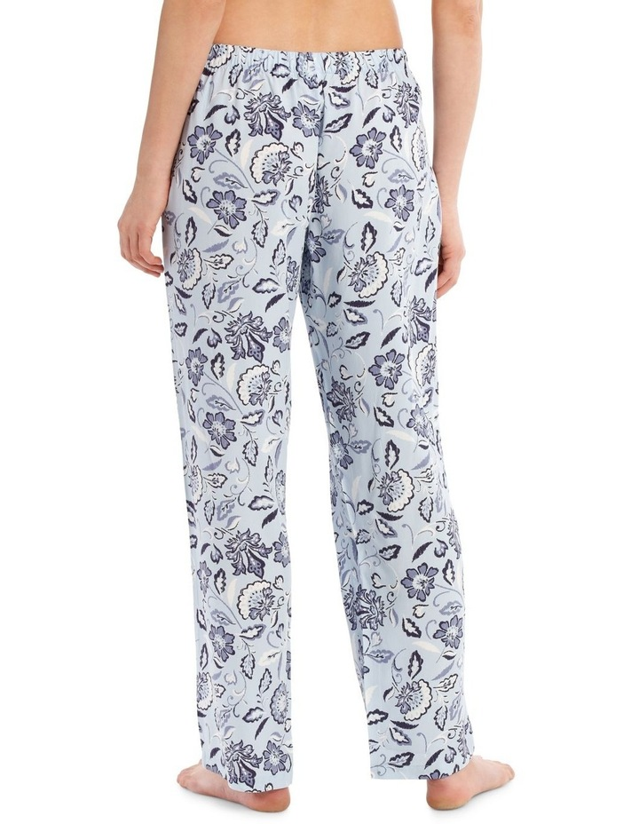 Blue Damask Woven Long Pant image 2