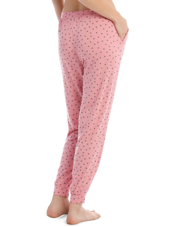Sleeping Hearts Long Knit Pant in Pink image 2