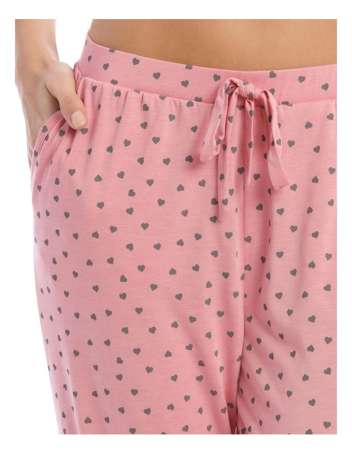Sleeping Hearts Long Knit Pant in Pink image 3